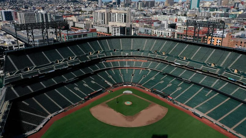 US-BALLPARKS-REMAIN-EMPTY-ON-WHAT-WOULD-HAVE-BEEN-BASEBALL'S-OPE