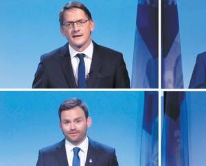 Sylvain Gaudreault, Guy Nantel, Paul St-Pierre Plamondon et Frédéric Bastien.