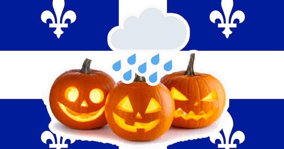 Image principale de l'article Pluie: ces villes du Québec reportent l'Halloween