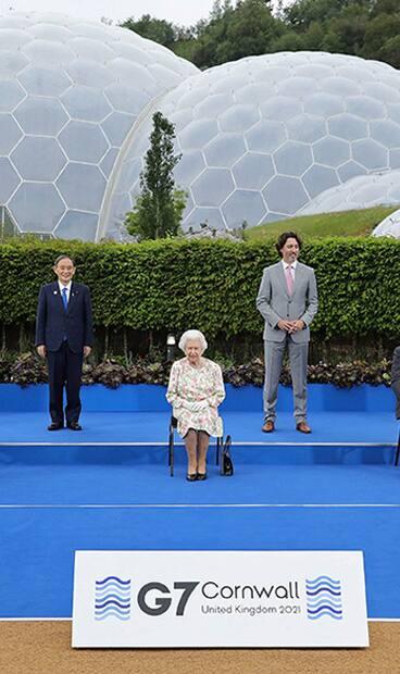 Image principale de l'article La Reine fait une blague aux dirigeants du G7