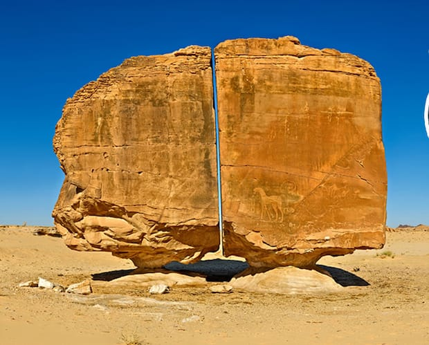Image principale de l'article Ce mystérieux rocher est parfaitement coupé en 2