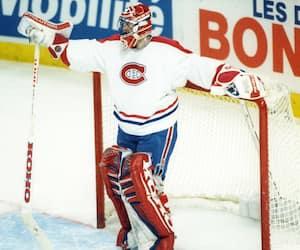 2 décembre 1995, Forum de Montréal. Dernière présence de Patrick Roy dans l'uniforme du CH.