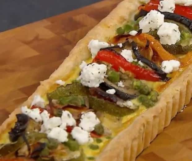 Image principale de l'article Tarte aux légumes grillés et feta