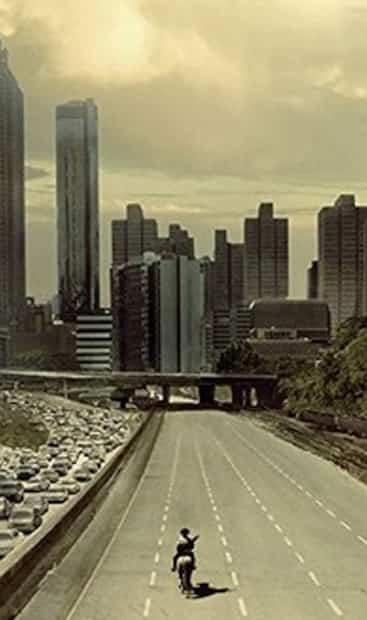 Image principale de l'article Une légendaire image de Walking Dead recréée