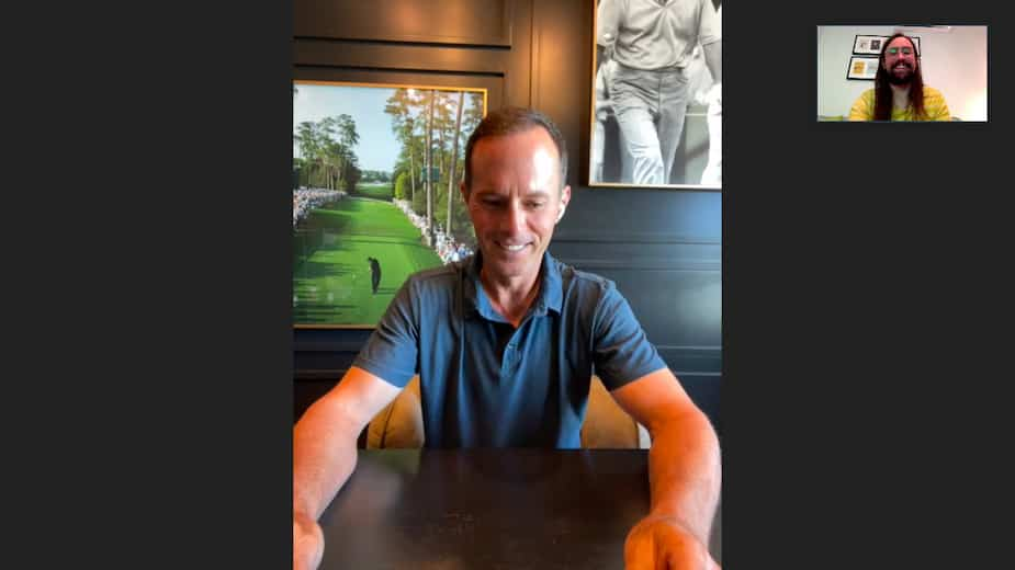 Mike Weir and the author of this text, very small in the corner