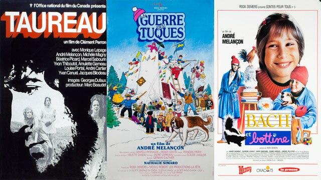 Quelques films d'André Melançon