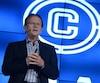 Jean Bédard, président et chef de la direction de Sportscene, en septembre 2015. Il avait alors annoncé plusieurs changements pour ses restaurants, à l'époque appelés Cage aux Sports. Ceux-ci avaient notamment été rebaptisés La Cage – Brasserie sportive.