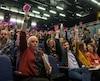 Congrès 2019 «Prendre le pouvoir, Transformer le Québec» de Québec solidaire au cégep Édouard-Montpetit, à Longueuil près de Montréal, samedi le 16 novembre 2019.