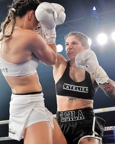 Leïla Beaudoin a fait très bonne impression face à Tereza Dvorakova, vendredi dernier à Québec.