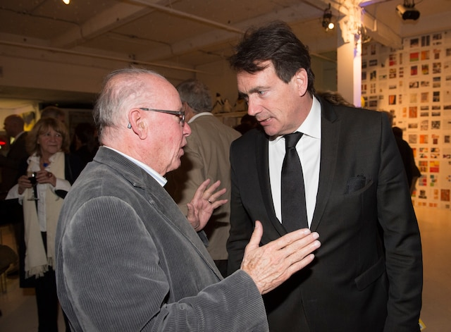 Avec Bernard Landry qu'il considérait comme un mentor.