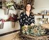 Annie Gagnon s'est lancée en affaires en misant sur sa passion pour les fleurs.