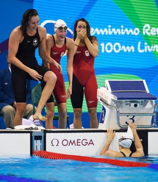 Les quatre représentantes canadiennes étaient émotives après leur troisième place.