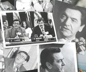Quelques photographies de Camille Laurin, connu comme étant le père de la loi 101.