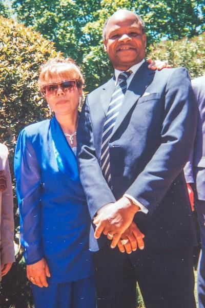 René et sa femme Ilda Pereira pendant leur séjour à Gagnon.