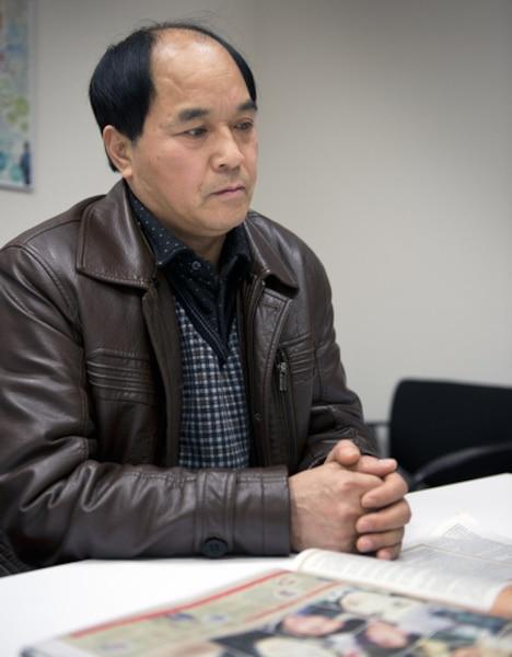 Portrait de Diran Lin, le père de Jun Lin , à Montréal en ce dimanche 10 mars 2013.
