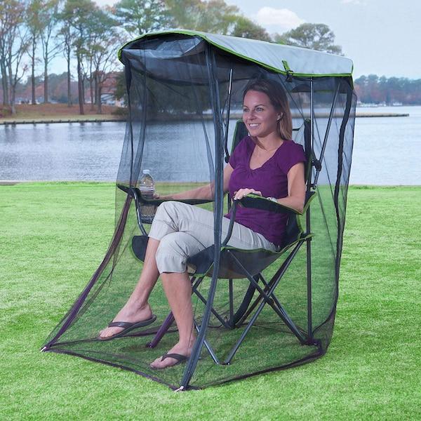 Image principale de l'article Cette chaise-abri-moustiquaire est parfaite!
