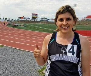 Nancy Leduc est une star dans le petit monde des Olympiques spéciaux québécois.