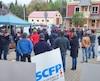 La séance du conseil de Val-David a été perturbée par des manifestants issus de Syndicat canadien de la fonction publique.