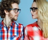 Bloc hipster, couple