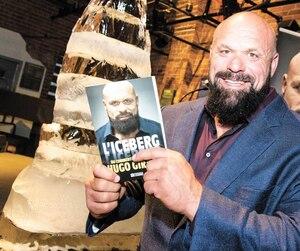 L'ancien homme fort Hugo Girard, mercredi soir, au lancement de son livre, L'iceberg, où il revient sur le chemin qu'il a parcouru au cours de sa vie.