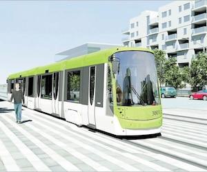 Une esquisse d'un projet de tramway de Québec et de Lévis, en juillet 2012.