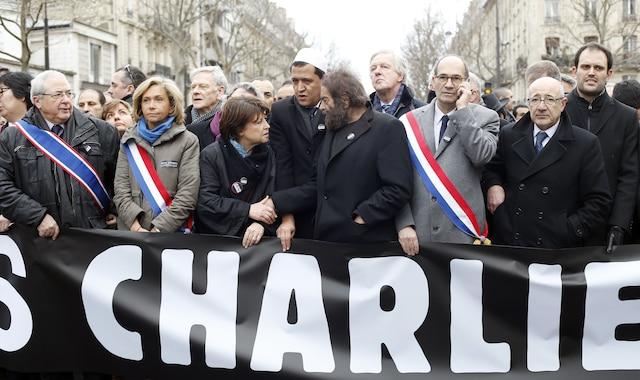 Plus de deux millions de personnes se sont déplacées dimanche pour marcher pour la démocratie et la liberté d'expression.