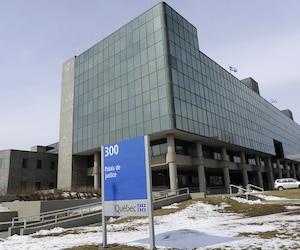 Bloc palais de justice de Québec hiver