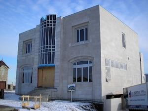 Une photo de la maison de Yanai Elbaz au moment de sa construction.
