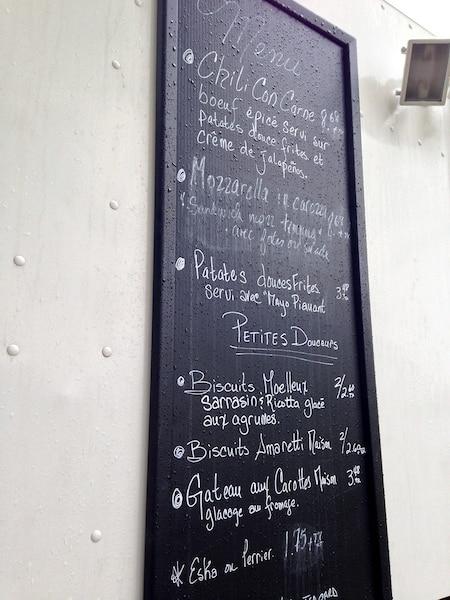 La cuisine de rue Le point sans g offre un menu sans gluten