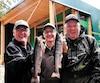 Michel Simard, le directeur Sylvain Boucher et Gilles Dubois, heureux de leur séjour dans le secteur du lac Brûlé.