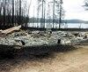 Dans l'Est-du-Québec, la SOPFEU a dû combattre 88 incendies, c'est plus que la normale qui se situe autour de 55 incendies. Le nombre d'hectares ravagés par les flammes a triplé par rapport aux dernières années, notamment en raison du feu de forêt de Labrieville (photo).