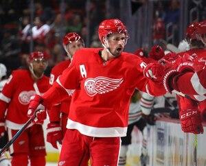 Dylan Larkin, choisi au 15e rang par les Red Wings lors du repêchage de 2014.