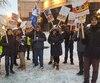 Ils dénoncent le refus du Port de Québec de se présenter à la table des négociations alors qu'une rencontre était prévue aujourd'hui.