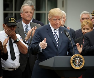 President Trump Holds Signing Ceremony For Veteran Affairs Mission Act of 2018