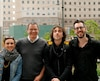 Une partie de l'équipe montréalaise de l'entreprise Réalisations, qui a réalisé la vidéo See Forever: Yolène Le Roux, André Lantin, Joël Proulx Bouffard et Philippe Provencher.