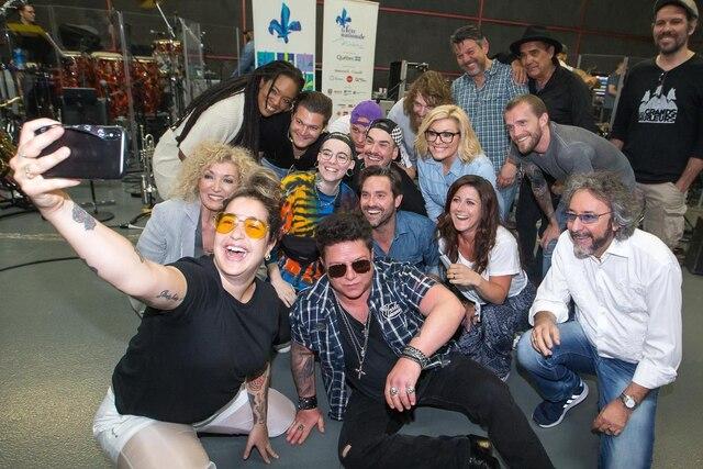 L'équipe des artistes du spectacle