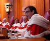 Newly-appointed Supreme Court of Canada Justice Gascon speaks during a welcoming ceremony at the Supreme Court of Canada in Ottawa