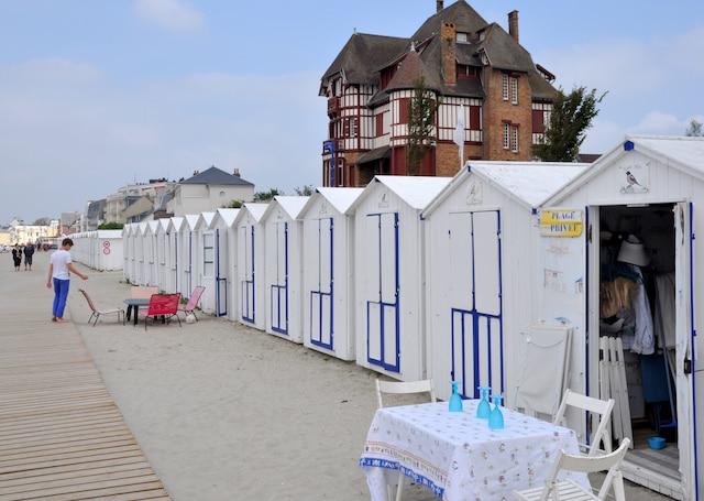Cabines de plage à Le Crotoy.