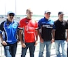 Alexandre Tagliani, Kevin Lacroix, Jean-François Dumoulin, Marc-Antoine Camirand, Louis-Philippe Dumoulin, Élie et Marc Arseneau s'en promettent au circuit ICAR, samedi à Mirabel.