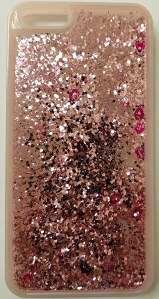 Étui «Waterfall Pink Gold Glitter»