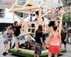 Les acrobates répétaient leurs numéros lors de la générale des défilés de la fête nationale, vendredi.