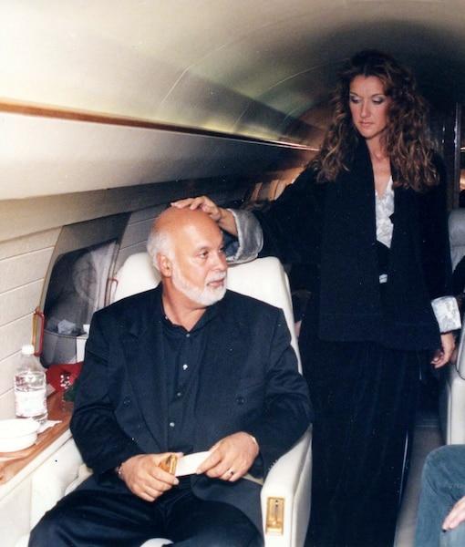 René Angélil et Céline Dion le 5 décembre 1998.