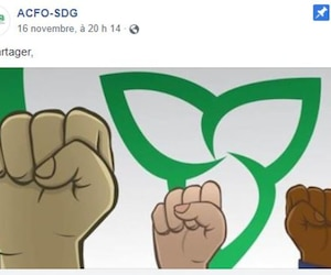 Illustration tirée de la page Facebook de l'Association canadienne-française de l'Ontario Stormont Dundas Glengarry. L'image a été créée par l'illustrateur franco-ontarien Marc Keelan-Bishop.