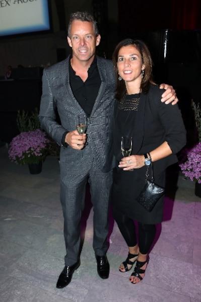François Lambert et sa conjointe Conchita Gonzalez ont apprécié leur soirée au profit de la Société pour les enfants handicapés du Québec.
