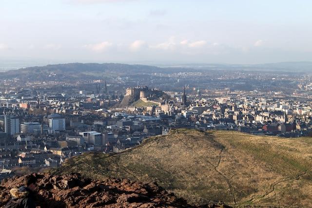 Vue de la ville depuis le Holyrood Park