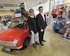 La boutique de Cap-Rouge, qui a subi une transformation majeure, donnera le ton à l'ensemble des boutiques Souris Mini. Sur la photo, Annie Bellavance et Steeve Baudet, propriétaires.