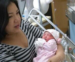 Le bébé de Myriam Oviedo est le premier de l'année à Montréal.