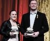 Justine Pelletier et Mathieu Betts ont été déclarés grands gagnants de la 67<sup>e</sup> édition du Gala du Rouge et Or qui s'est tenu hier soir au PEPS.