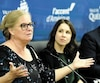 Line Lagacé, de Québec international, Émilie Villeneuve, conseillère municipale, Jean St-Gelais et Olga Farman, coprésidents du Rendez-vous
