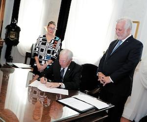 Déclenchement officiel de la campagne électorale par le premier ministre Philippe Couillard chez le Lieutenant gouverneur.